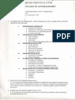 Cuestionario FULL Sobre Derecho Procesal Civil y Mercantil