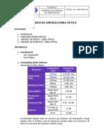 Proc-06 Criterios de Limpieza de Fibra Óptica