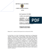 Corte Constitucional competencias JEP y Fiscalía