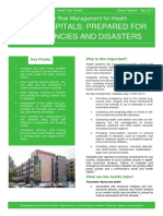 Drm Fact Sheet Safe Hospitals