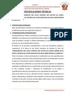 Especificaciones Tecnicas - Mej. Local Comunal El Sector Las Lomas