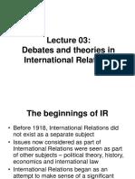 03themaintheoriesininternationalrelations-140603094950-phpapp01