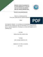 Factores de Riesgo y Su Incidencia en Enfermedad Pulmonar