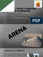 Arena, Vidrio y Unidades de Albañilería
