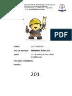 Informe Final 5 (Ley de Ohm )