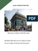 In the Praise of Hadrat Mian Mir
