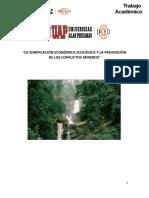 La Zonificación Económica Ecológica y La Prevención de Los Conflictos Mineros