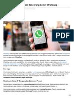 Jalantikus.com-Cara Mengetahui Lokasi Seseorang Lewat WhatsApp
