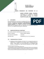 Denuncia Constitucional contra  Guido Águila Grados