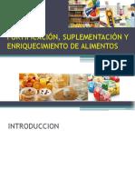 Fortificación, Suplementación y Enriquecimiento de Alimentos