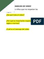 4 Análisis de Video