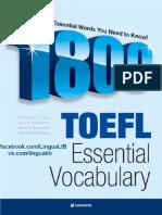 1800TOEFL Essential Vocabulary - Facebook Com LinguaLIB