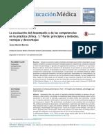 La evaluación del desempe˜no o de las competencias en la práctica clínica. 1.a Parte