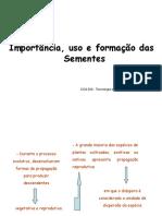 Importancia, Uso e Formação Das Sementes