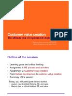Customer Value Creation 2018