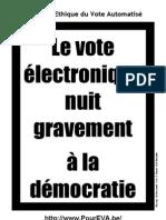 Georges-Pierre Tonnelier estime que le vote électronique nuit gravement à la démocratie