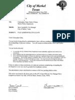 Merkel Police Chief Documents