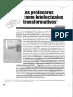 Los Profesores Como Intelectos Transformativos