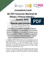 Convocatoria 2018. Educar Para Prevenir