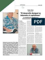 Amin S Entrevista El Desarrollo Desigual Es Inherente Al Capitalismo