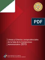 Lineas y Criterios Jurisprudenciales Sala de Lo Contencioso Administrativo 2015