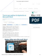 Trucos Para Agilizar La Digitación en Microsoft Word