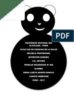 Análisis de La Situación Alimentaria y Nutricional en El Peru