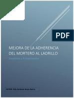 Mejora de La Adherencia Mortero Al Ladrillo (Terminado)
