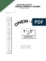 Onem 2018 Para Nivel 1