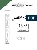 Onem 2018 Para Nivel 2