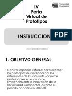 IV Feria Virtual de Prototipos INSTRUCCIONES