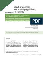Analisis Criminal, Proactividad y Desarrollo de Estrategias Policiales Basadas en Envidencia 2015