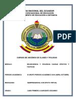 3. Módulo de Delincuencia y Violencia, Causas Efectos y Tácticas CBOP