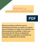 Sindrome de Hiperlaxitud Escoliosis