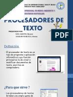 Procesador de Texto - Ppt Listoo