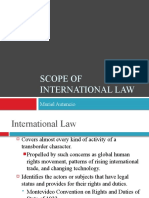 Scope of International Law