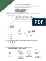 Diagnóstico Matemática TERCERO