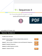 Yr9 Sequences