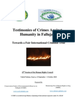Testimonies of Crimes Against Humanity in Fallujah