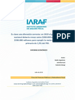 Informe IARAF recorte 2019
