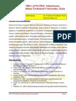 DAT 2018 Syllabus for Ph.D. Entrance Examination