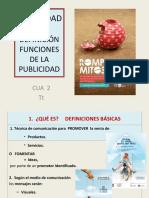 PUBLICIDAD FUNCIONES