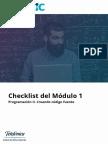 Checklist m 1