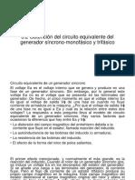 3.2 Obtención Del Circuito Equivalente Del Generador Síncrono-monofásico y Trifásico