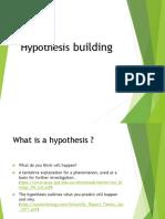 Hypothesis Building