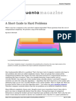 A Short Guide to Hard Problems 20180716