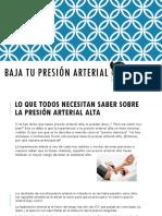 Baja Tu Presion Arterial