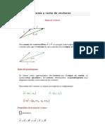 Matematicas Suma y Resta de Vectores