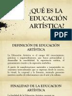 Diapositivas Que Es La Educación Artistica