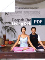 Deepak Chopra on Living and Healing